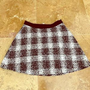 BCBG black and white mini skirt